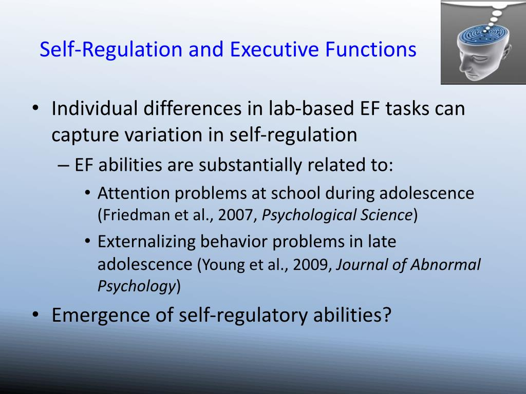 Self-Regulation and Executive Functions