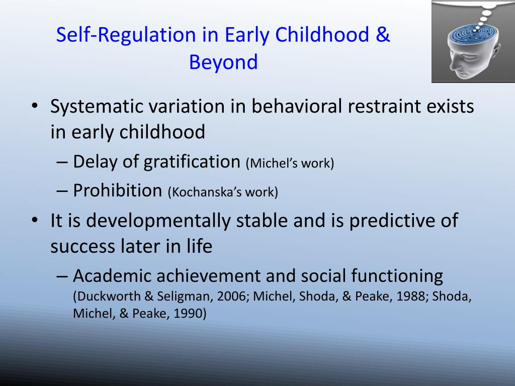 Self-Regulation in Early Childhood & Beyond