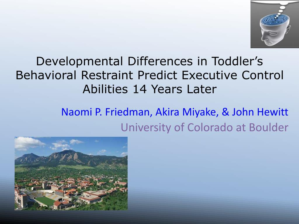 Developmental Differences in Toddler's