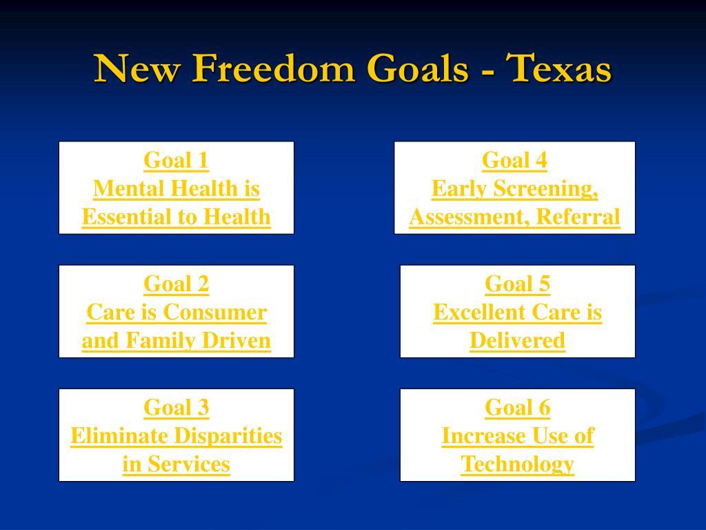 New Freedom Goals - Texas