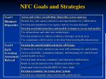 nfc goals and strategies19