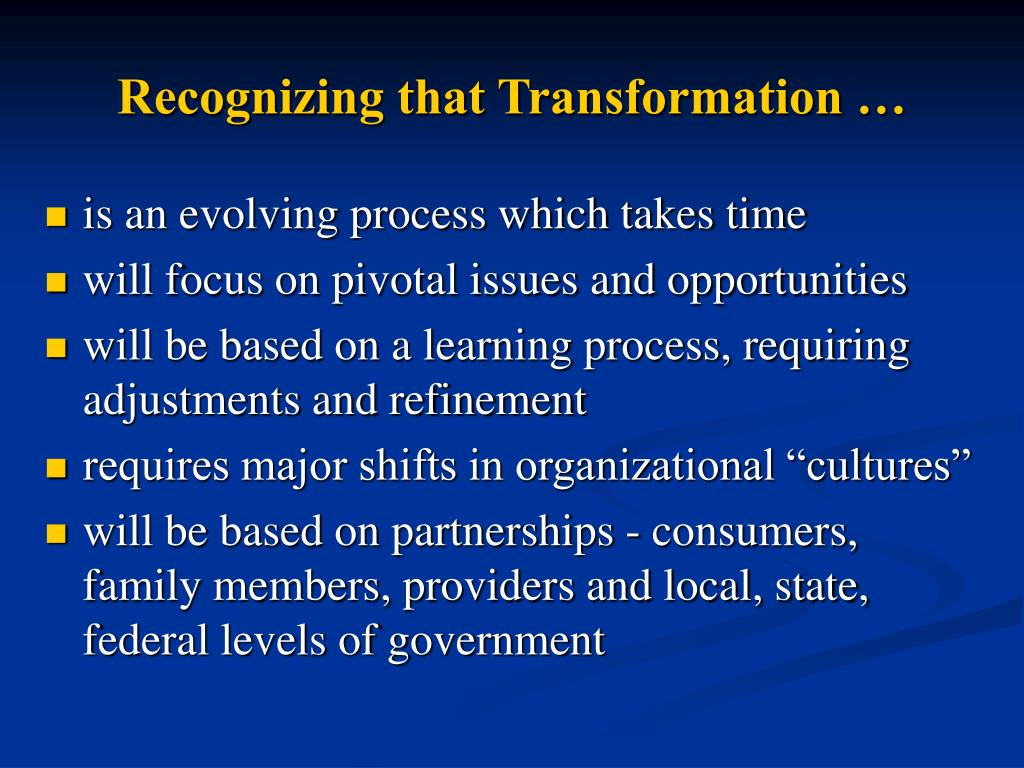 Recognizing that Transformation …