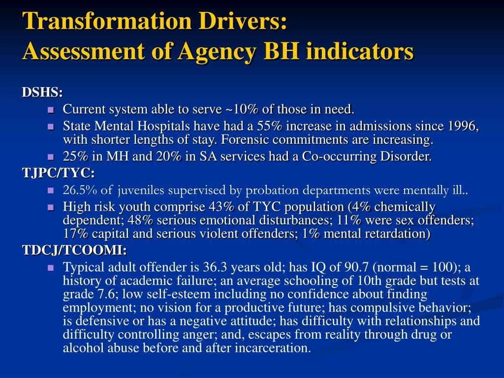 Transformation Drivers: