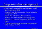 competence enhancement approach