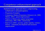 competence enhancement approach42