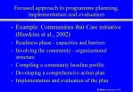 focused approach to programme planning implementation and evaluation