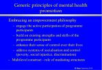generic principles of mental health promotion25