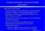 generic principles of mental health promotion27