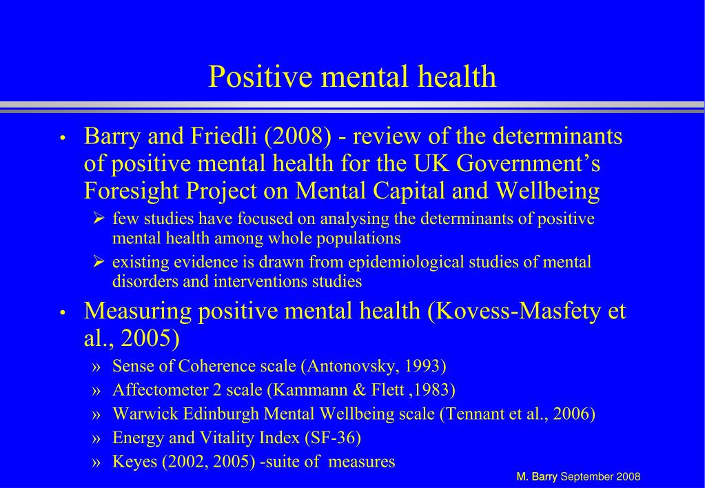 Positive mental health
