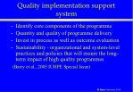 quality implementation support system47