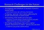 research challenges for the future