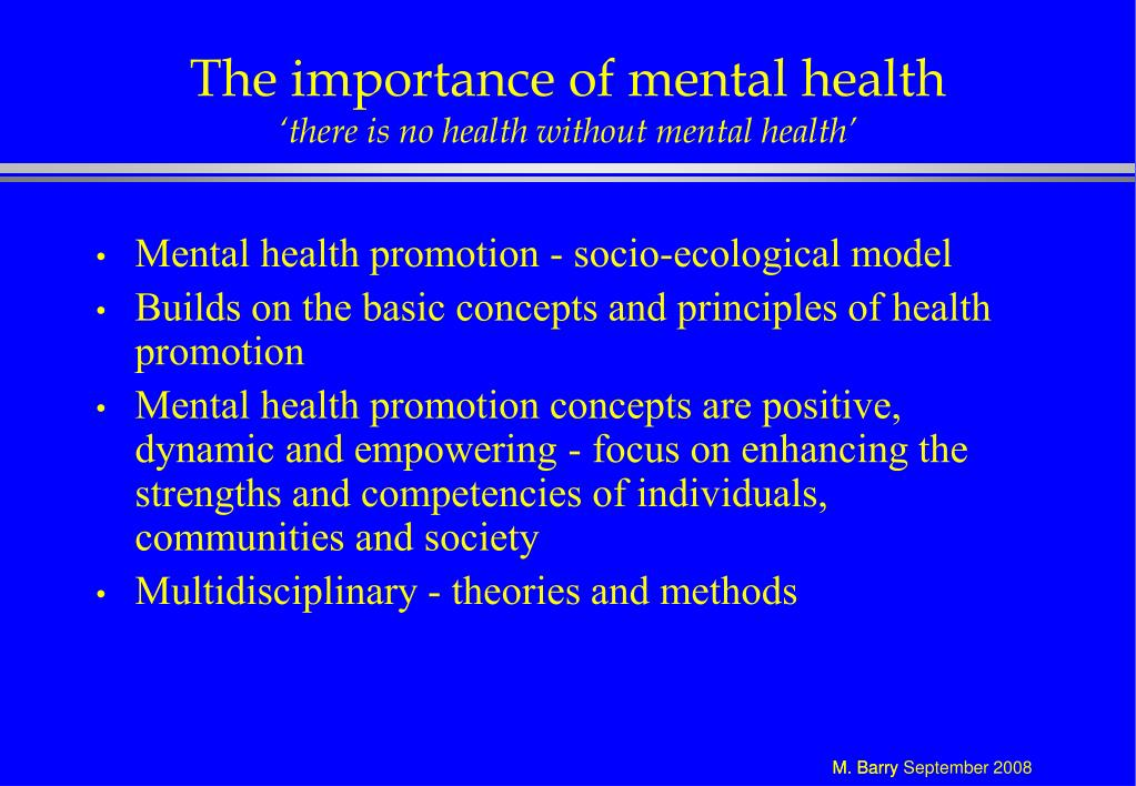 The importance of mental health