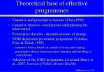 theoretical base of effective programmes38
