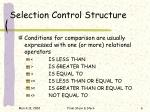 selection control structure6