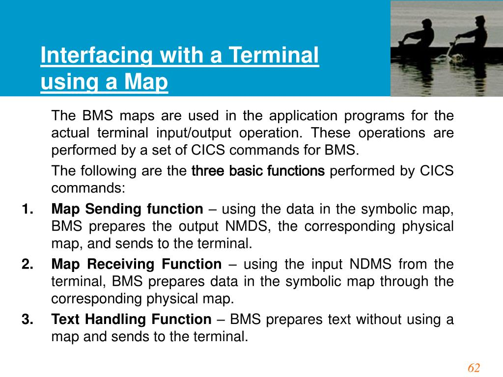 Interfacing with a Terminal using a Map