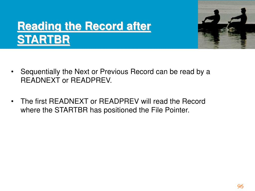 Reading the Record after STARTBR