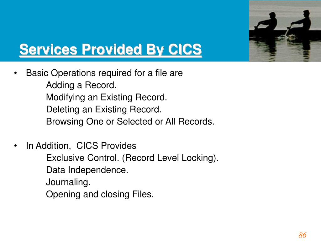 Services Provided By CICS