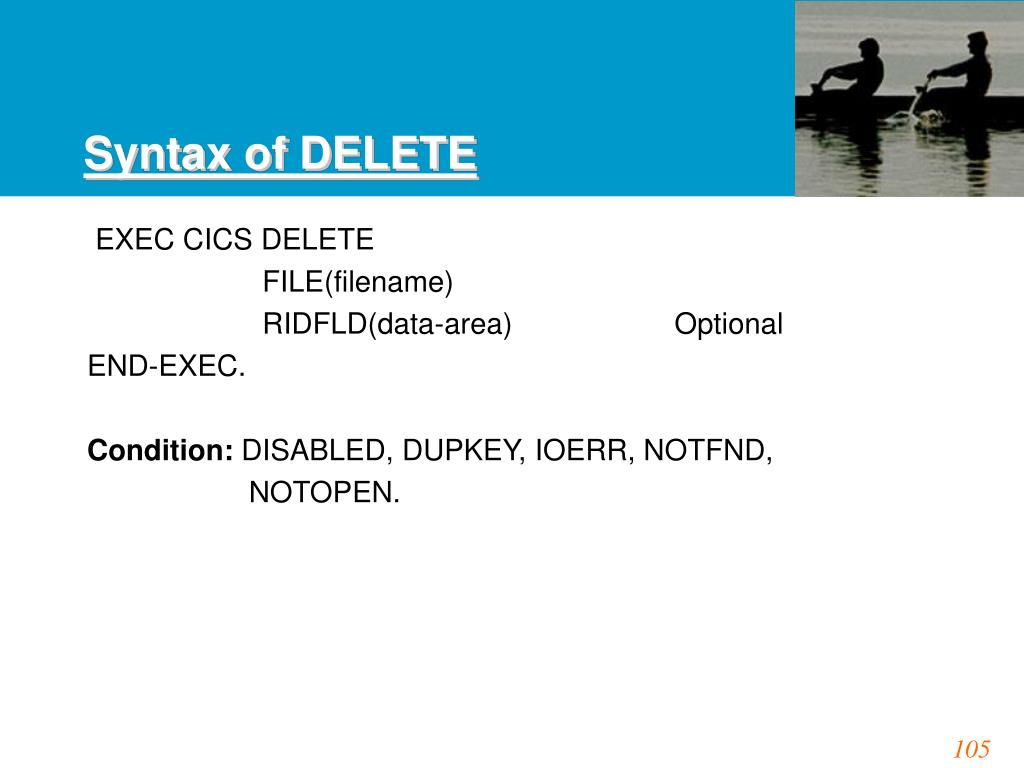 Syntax of DELETE