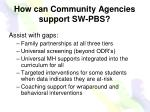 how can community agencies support sw pbs
