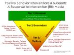 positive behavior interventions supports a response to intervention rti model