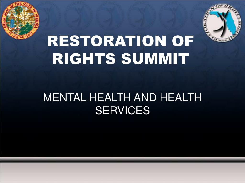 restoration of rights summit l.