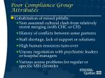 poor compliance group attributes