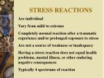 stress reactions