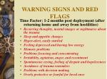 warning signs and red flags
