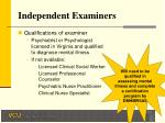 independent examiners
