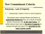 new commitment criteria10