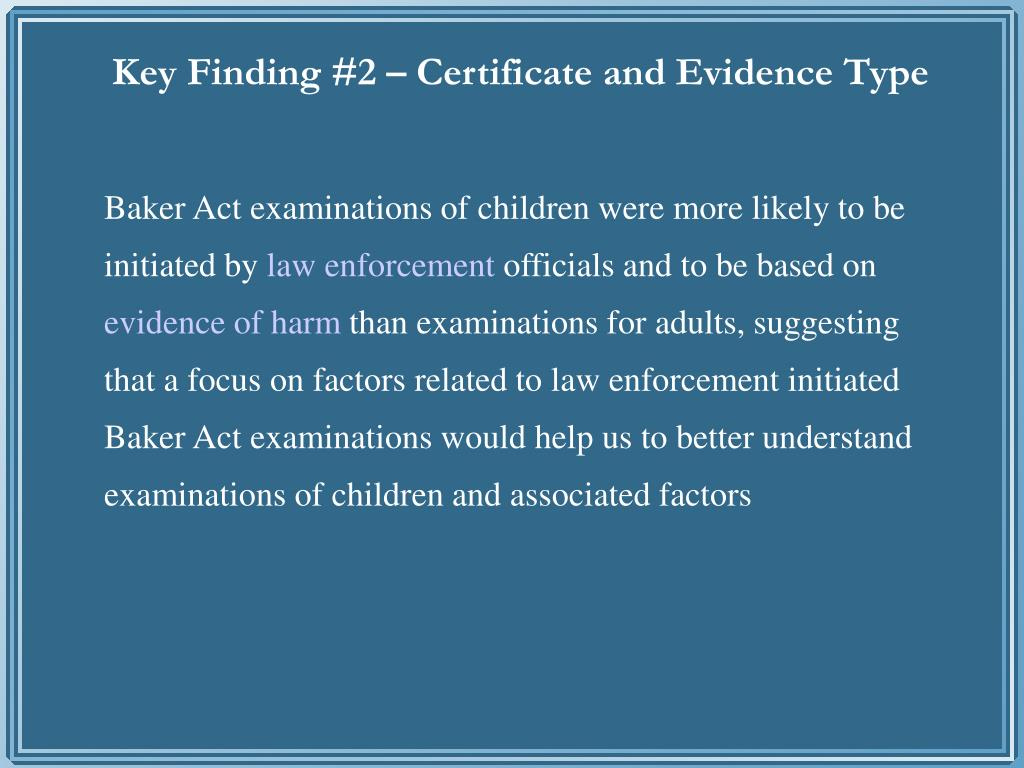 Key Finding #2 – Certificate and Evidence Type
