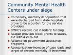 community mental health centers under siege