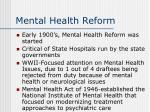 mental health reform