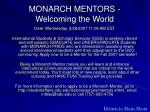 monarch mentors welcoming the world