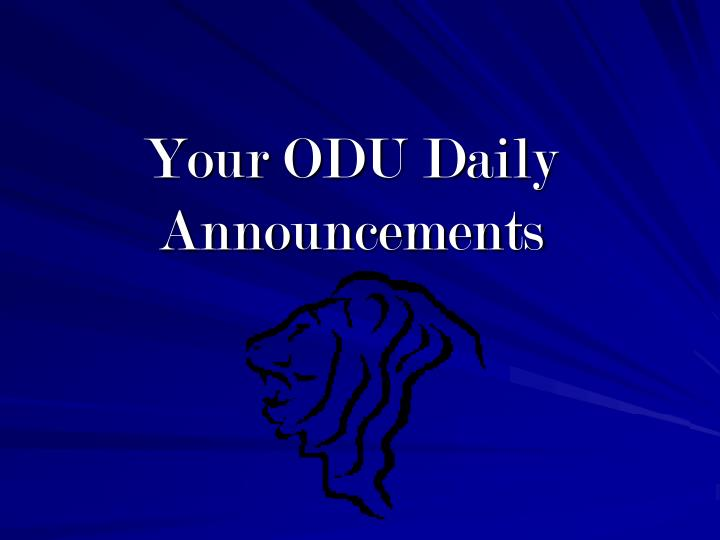 your odu daily announcements n.