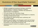 illustrations of non quantifiable treatment limitations