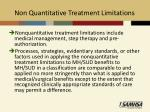non quantitative treatment limitations