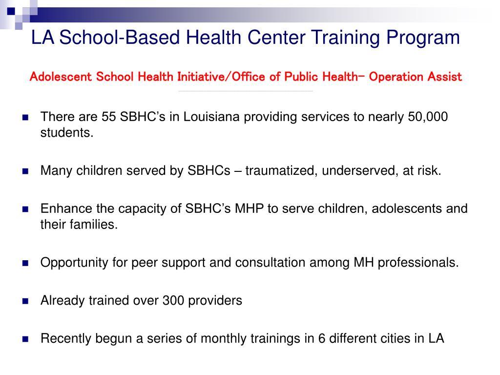 LA School-Based Health Center Training Program