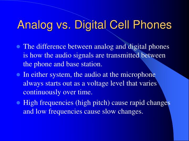 Analog vs digital cell phones
