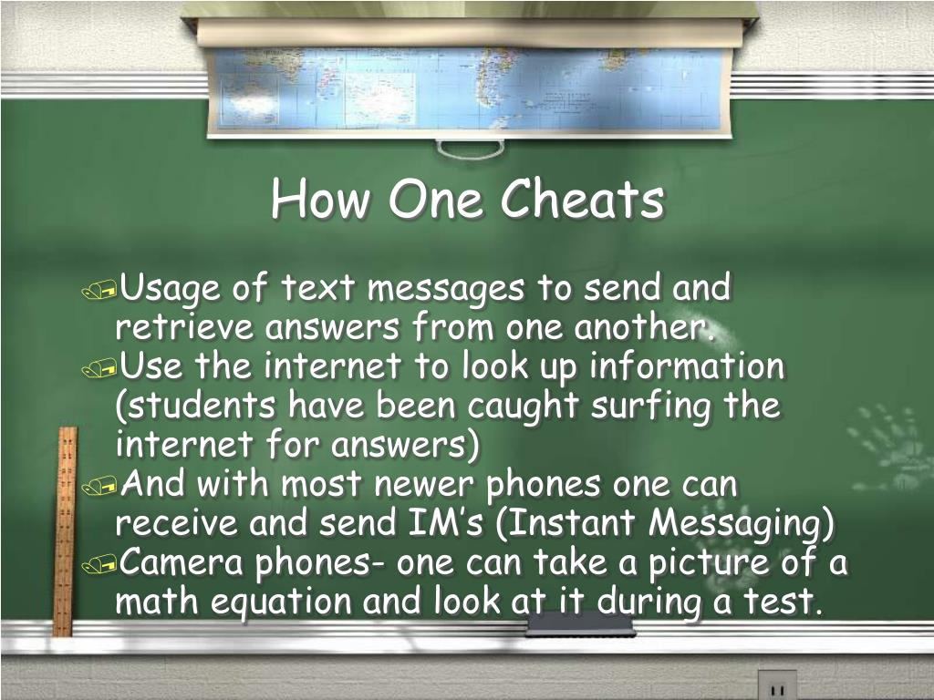 How One Cheats