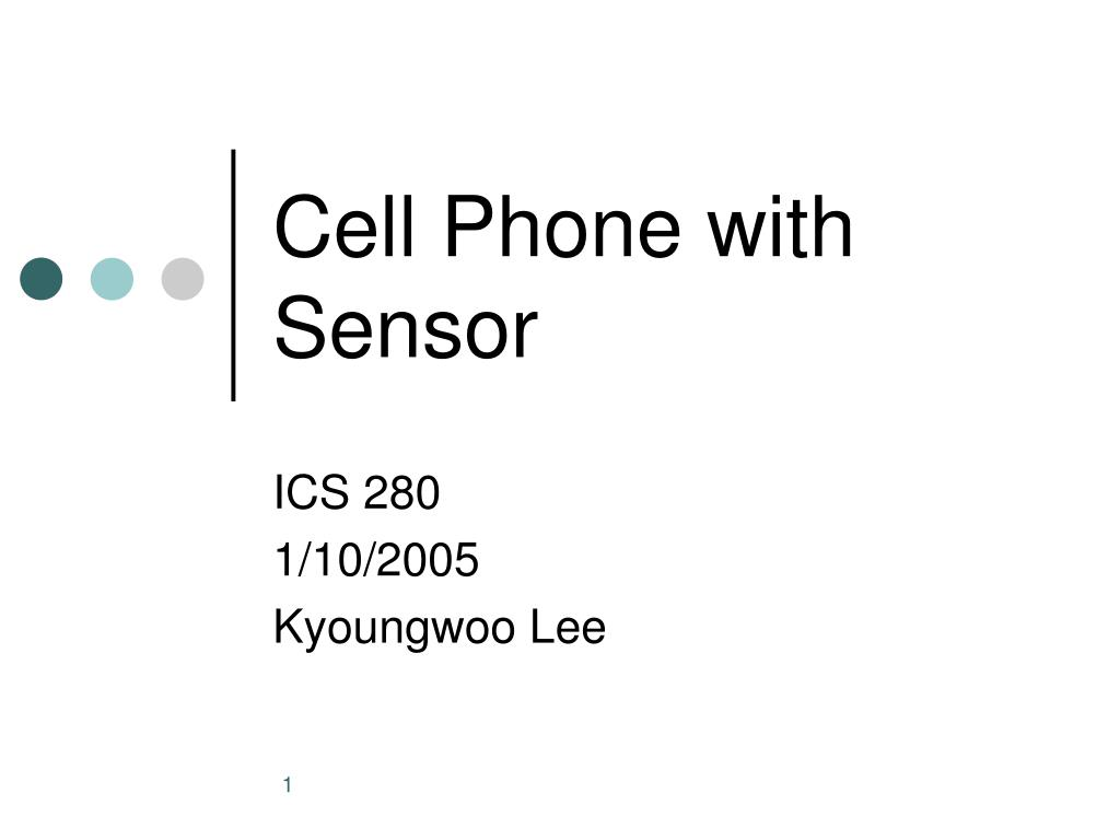 cell phone with sensor l.