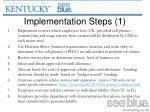 implementation steps 1