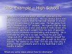 case example high school
