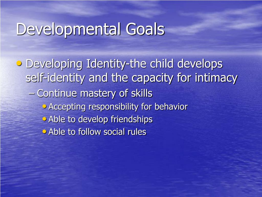 Developmental Goals