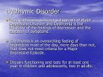 dysthymic disorder