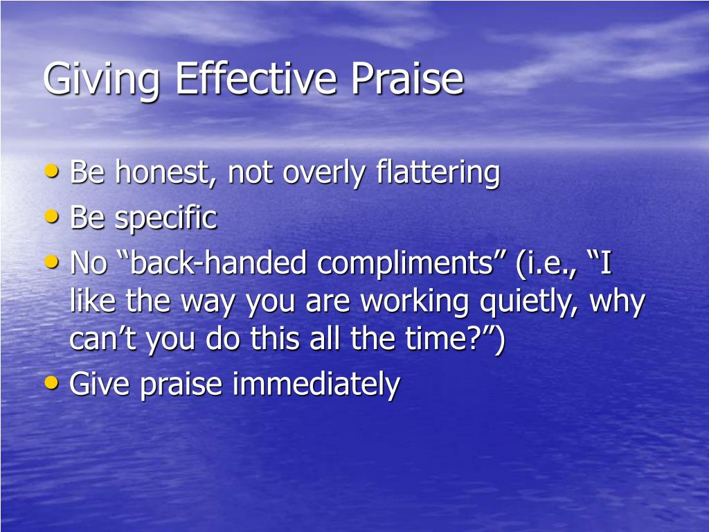 Giving Effective Praise