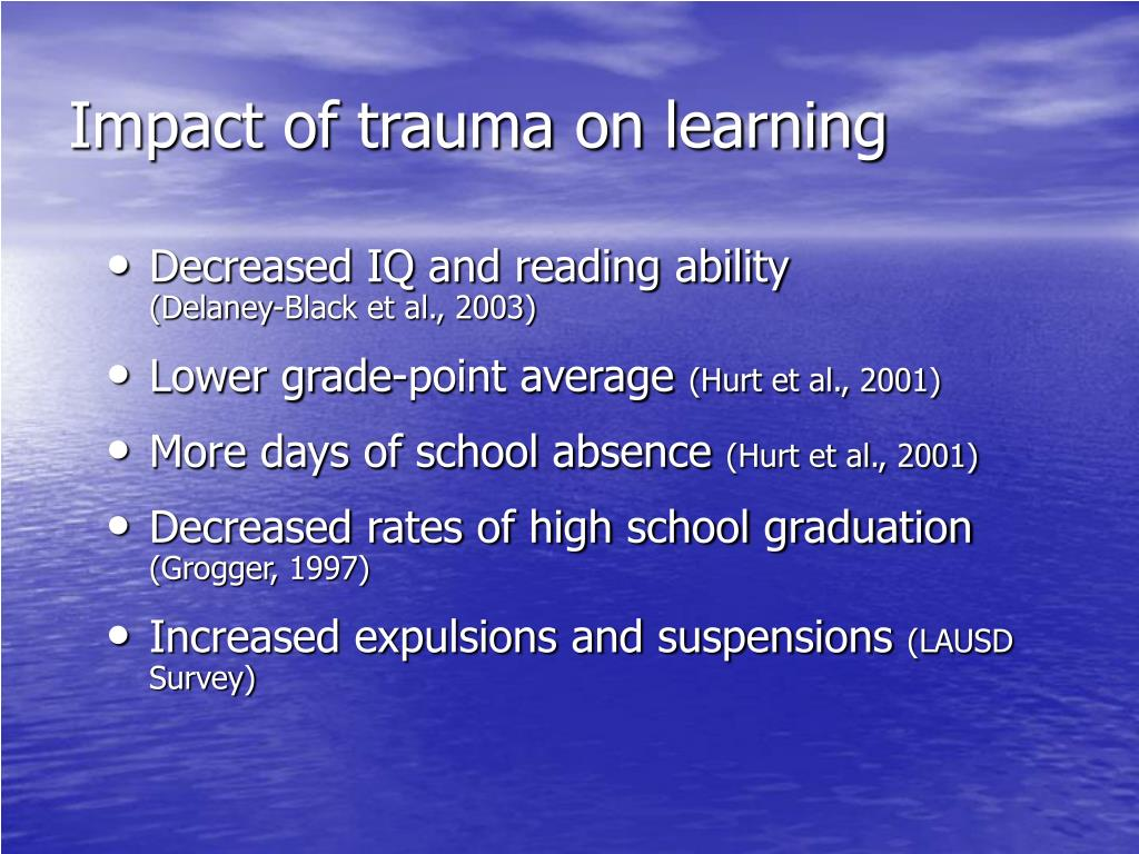 Impact of trauma on learning