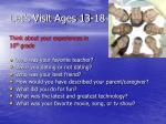let s visit ages 13 18