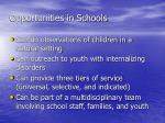 opportunities in schools