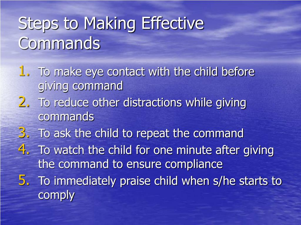 Steps to Making Effective Commands